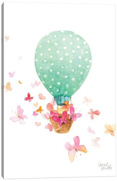Hot Air Balloon with Butterflies Canvas Art Print