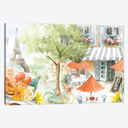 Parisian Life Canvas Print #LNL566} by Lanie Loreth Canvas Print