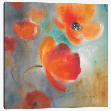 Scarlet Poppies in Bloom I Canvas Print #LNL570} by Lanie Loreth Canvas Art Print