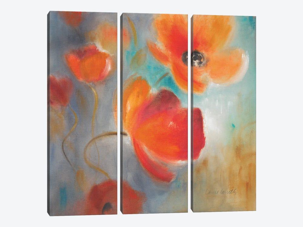 Scarlet Poppies in Bloom I by Lanie Loreth 3-piece Canvas Art Print