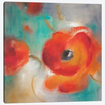Scarlet Poppies in Bloom II Canvas Print #LNL571} by Lanie Loreth Canvas Print