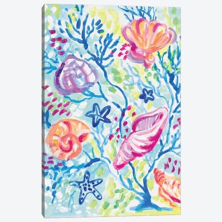 Seashells in the Coral Canvas Print #LNL572} by Lanie Loreth Canvas Print