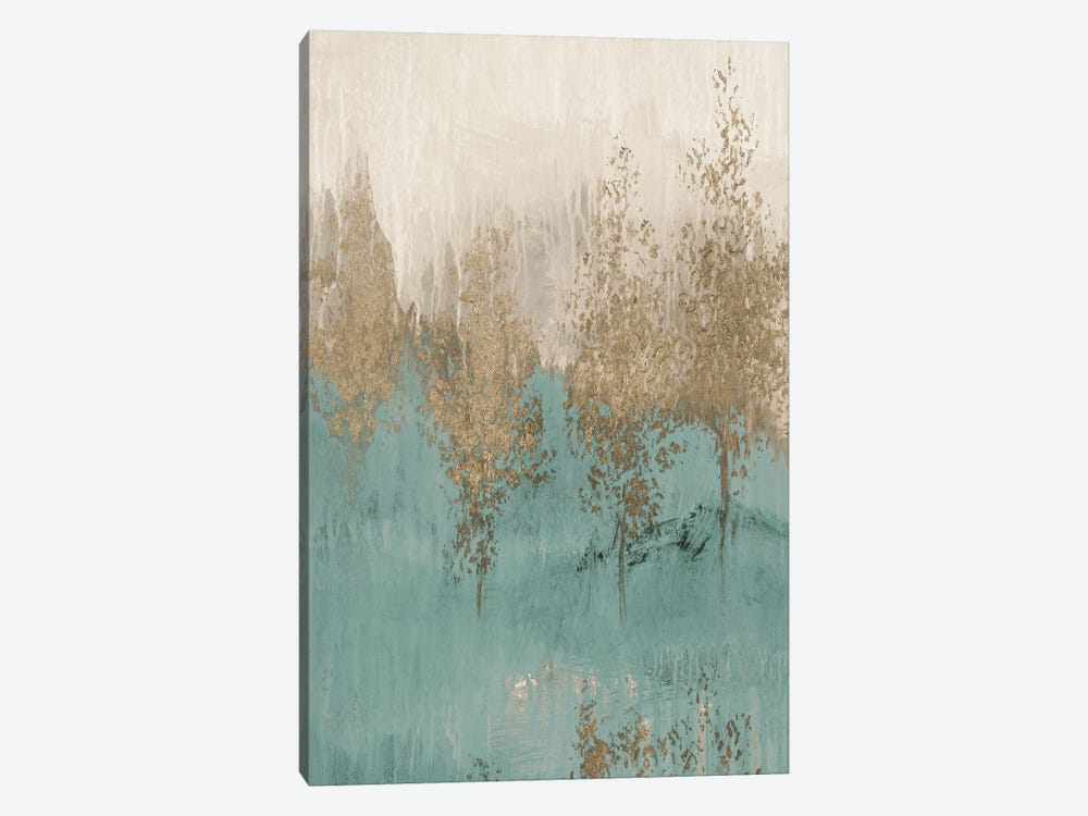 Through the Gold Trees Abstract II by Lanie Loreth 1-piece Canvas Artwork