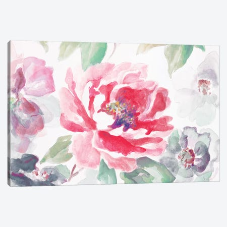 Floral Delicate Spring Canvas Print #LNL65} by Lanie Loreth Canvas Wall Art