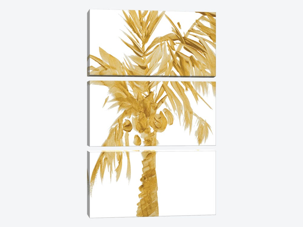 Gold Palms I by Lanie Loreth 3-piece Canvas Print