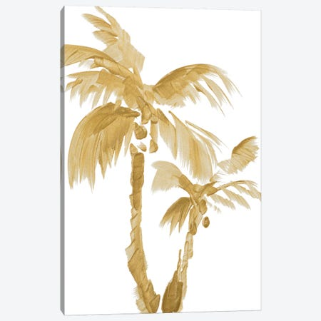 Gold Palms II Canvas Print #LNL83} by Lanie Loreth Canvas Print