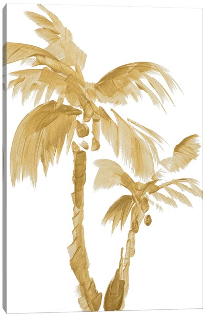 Gold Palms II Canvas Art Print