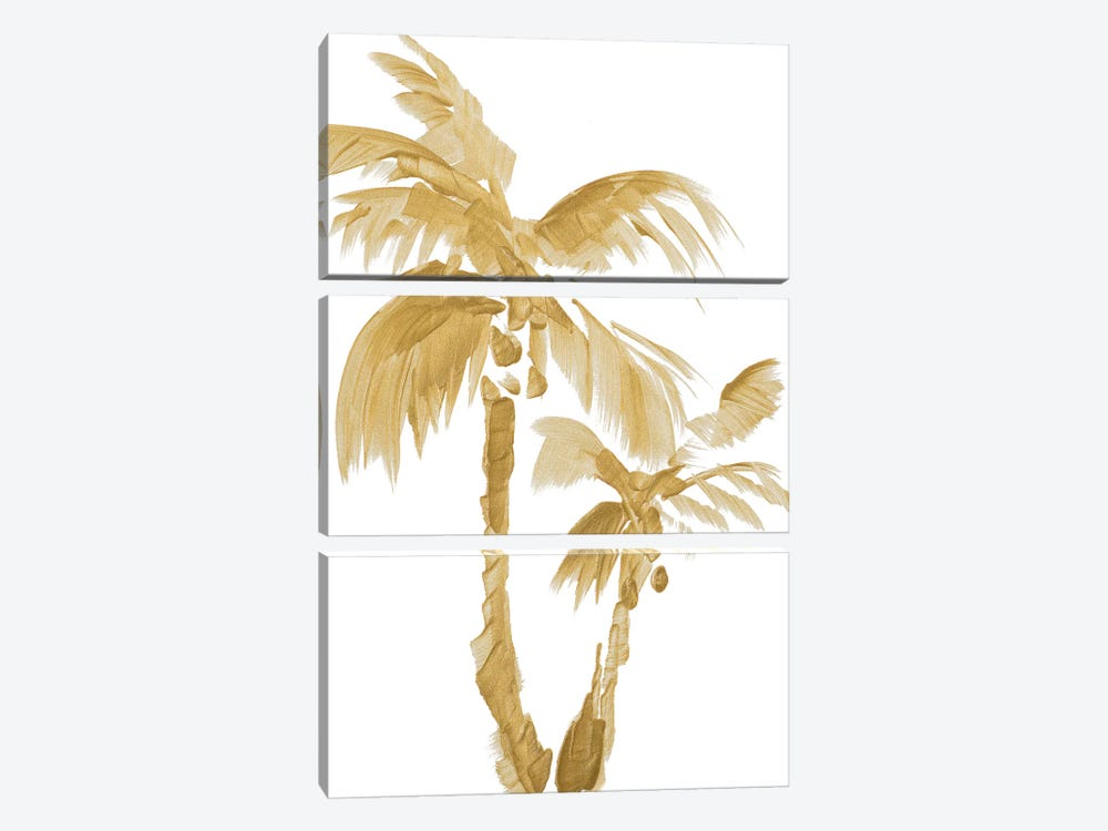Gold Palms II by Lanie Loreth 3-piece Canvas Artwork
