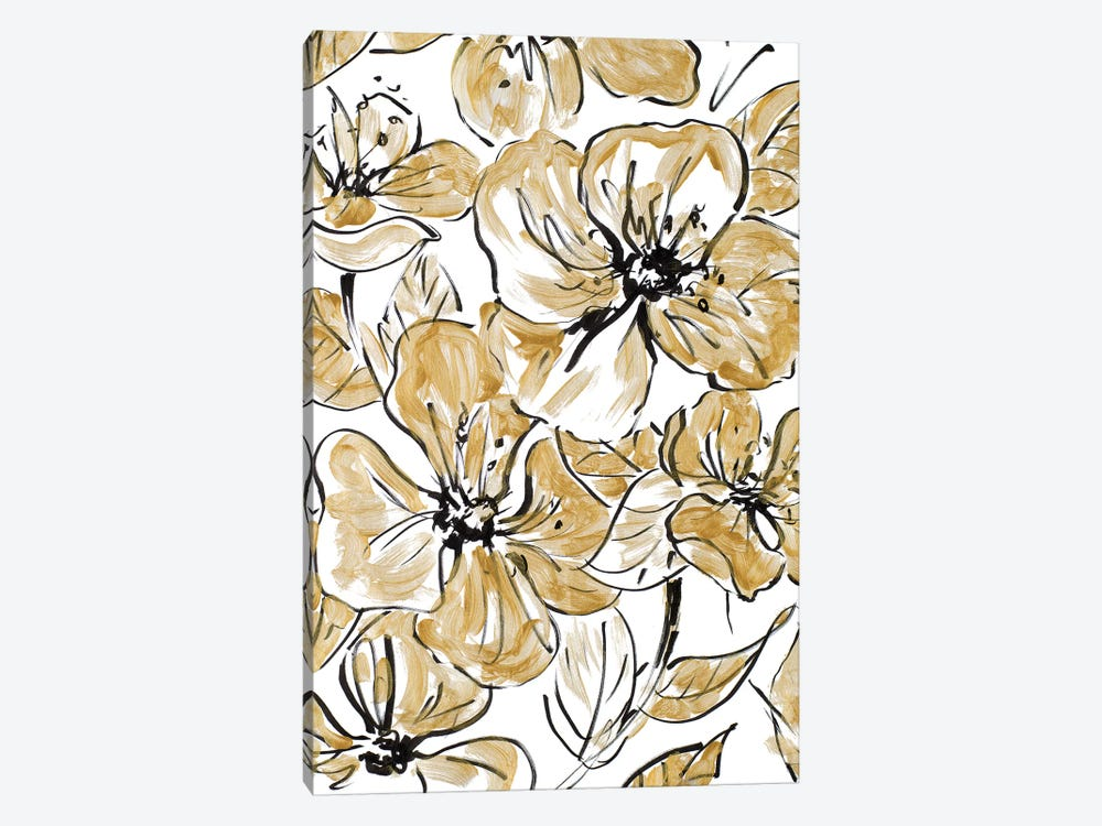 Golden Sketch Floral I by Lanie Loreth 1-piece Art Print