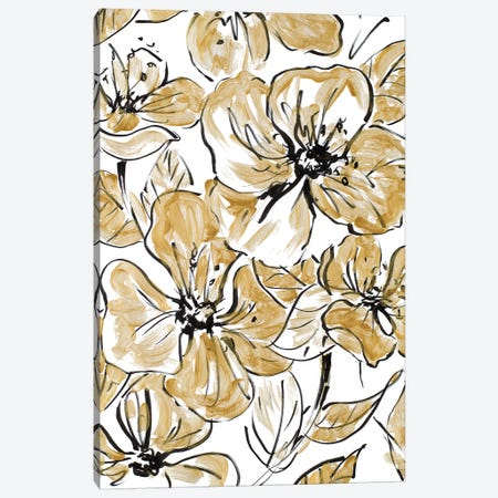 Golden Sketch Floral I Canvas Print #LNL86} by Lanie Loreth Canvas Art