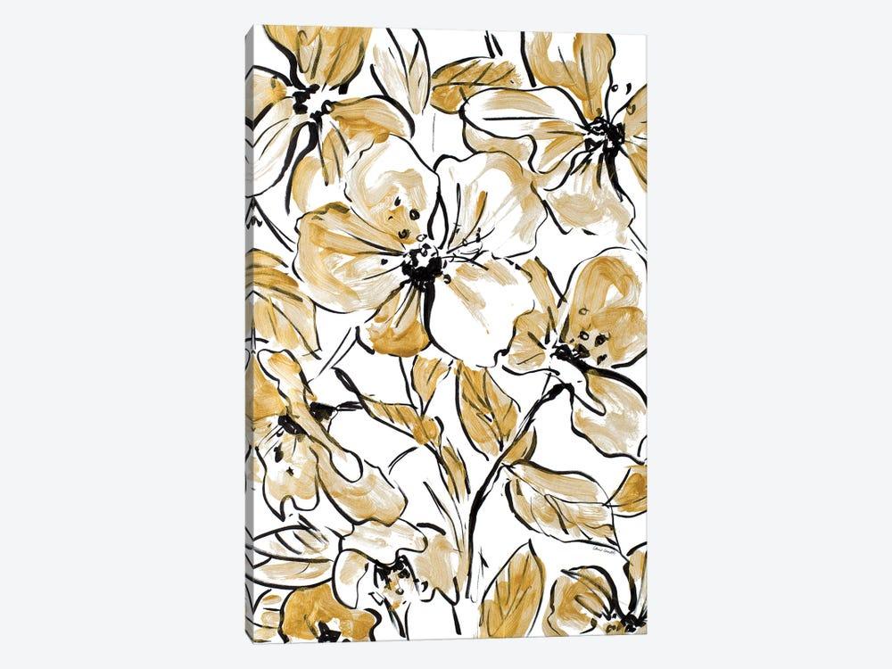 Golden Sketch Floral II by Lanie Loreth 1-piece Canvas Artwork
