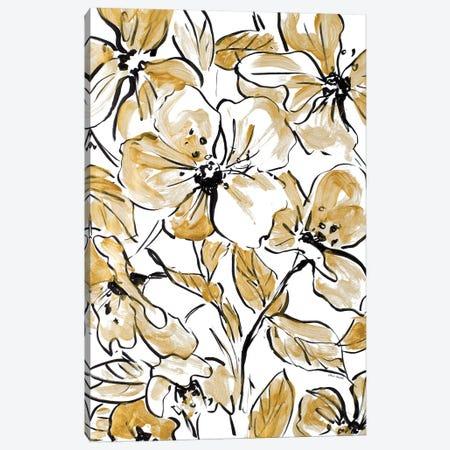 Golden Sketch Floral II Canvas Print #LNL87} by Lanie Loreth Canvas Art