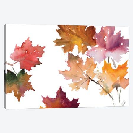 Harvest Leaves II 3-Piece Canvas #LNL88} by Lanie Loreth Art Print