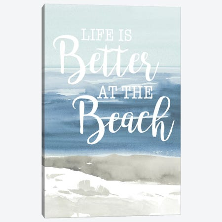 At the Beach Canvas Print #LNL8} by Lanie Loreth Canvas Print