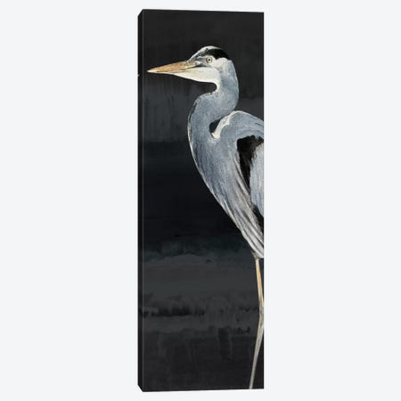 Heron on Black I Canvas Print #LNL90} by Lanie Loreth Canvas Artwork