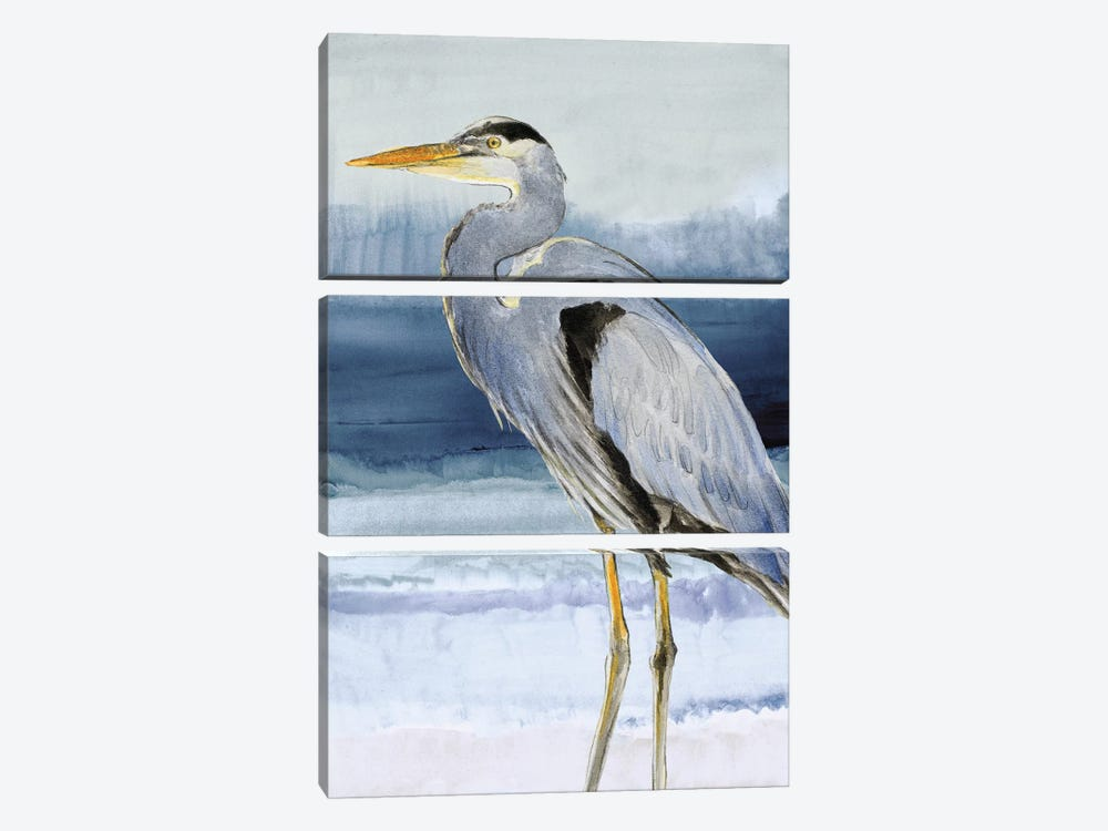 Heron on Blue I by Lanie Loreth 3-piece Canvas Artwork