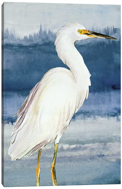 Heron on Blue II Canvas Art Print