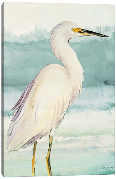 Heron on Seaglass II Canvas Art Print