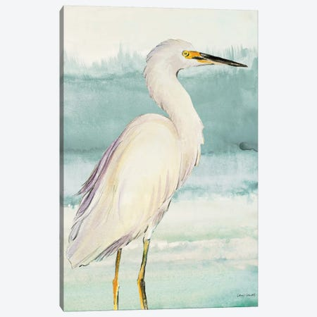 Heron on Seaglass II Canvas Print #LNL95} by Lanie Loreth Canvas Print