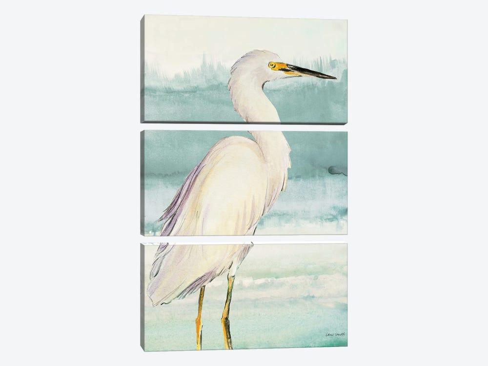 Heron on Seaglass II by Lanie Loreth 3-piece Canvas Art Print