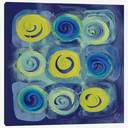 Indigo Modern Joy I Canvas Print #LNL97} by Lanie Loreth Art Print