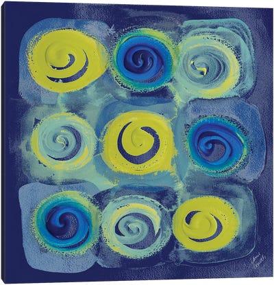 Indigo Modern Joy I Canvas Art Print