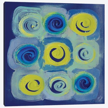 Indigo Modern Joy II Canvas Print #LNL98} by Lanie Loreth Canvas Art