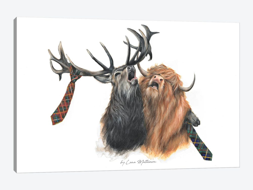 Stag Night by Lana Mathieson 1-piece Canvas Wall Art