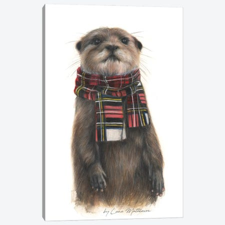 The Dapper Otter Oot The Water Canvas Print #LNM27} by Lana Mathieson Canvas Print