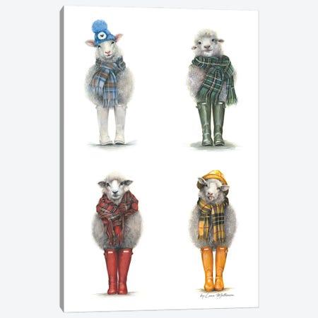 Four Seasons Sheeps Canvas Print #LNM2} by Lana Mathieson Canvas Wall Art
