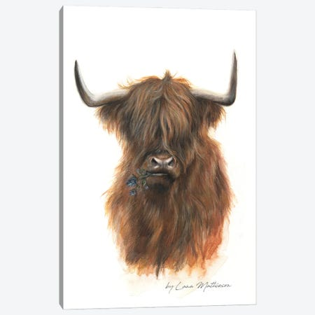The Jaggy Thistle Coo Canvas Print #LNM30} by Lana Mathieson Art Print