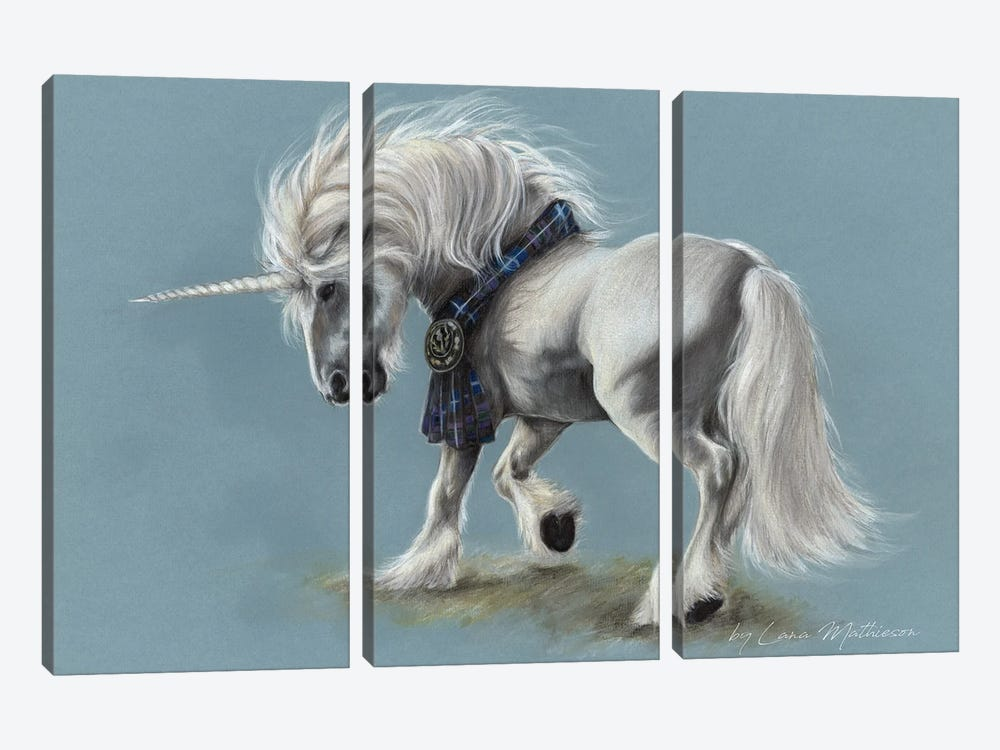 The Pride Of Scotland by Lana Mathieson 3-piece Canvas Art Print