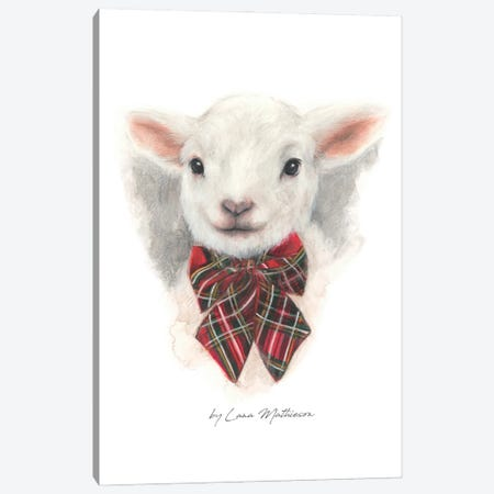 Wee Lamb Canvas Print #LNM38} by Lana Mathieson Art Print