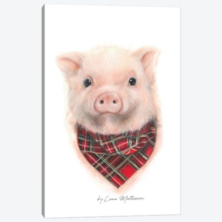 Wee Piggy Canvas Print #LNM39} by Lana Mathieson Canvas Art Print