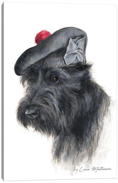 The Balmoral Scottie Canvas Art Print