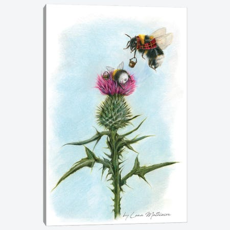 BUMblebees Canvas Print #LNM62} by Lana Mathieson Canvas Artwork