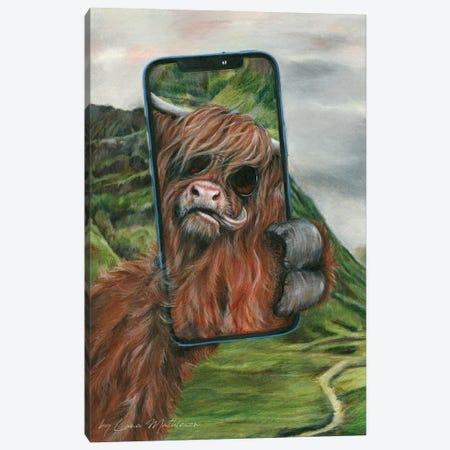 Highland Selfie Canvas Print #LNM65} by Lana Mathieson Canvas Art Print