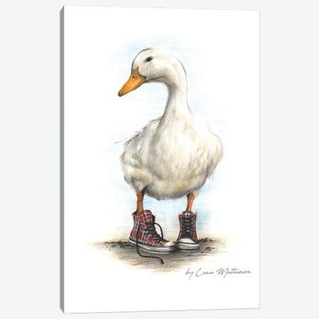 Duck In Chucks Canvas Print #LNM7} by Lana Mathieson Canvas Art Print