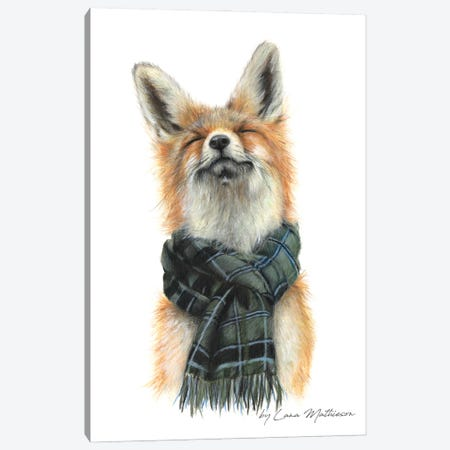 Foxy In Fort William Canvas Print #LNM8} by Lana Mathieson Canvas Wall Art