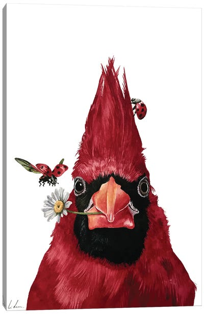 Red Cardinal And Friends Canvas Art Print