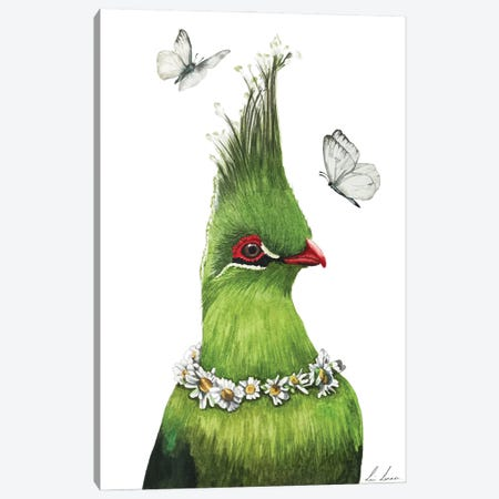 The Green Bird Canvas Print #LNN22} by Lisa Lennon Art Print
