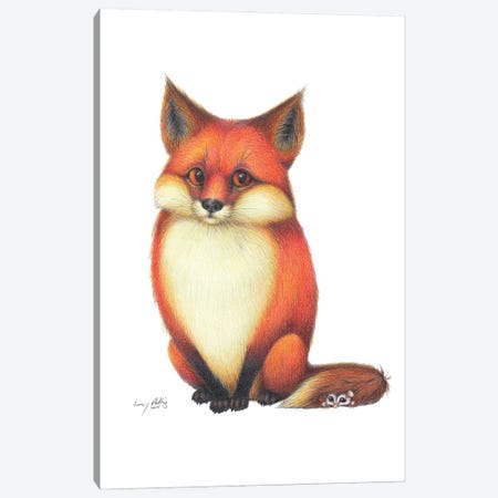 Foxy Friends Canvas Print #LNP17} by Lenny Pelling Canvas Print