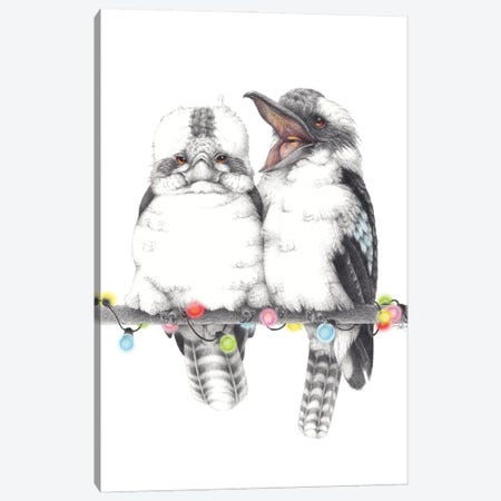 Kookaburra Party Canvas Print #LNP21} by Lenny Pelling Canvas Art Print