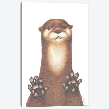 Otterly Gorgeous Canvas Print #LNP30} by Lenny Pelling Canvas Art
