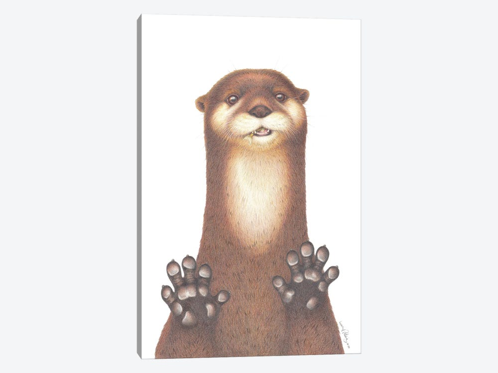 Otterly Gorgeous by Lenny Pelling 1-piece Canvas Art Print