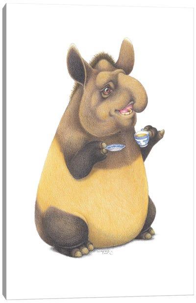 Tapir Tea Time Canvas Art Print
