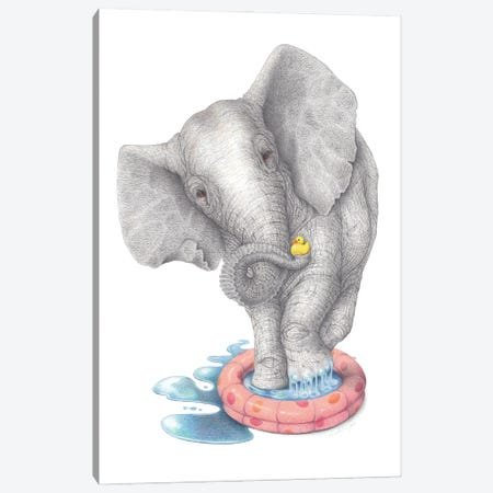 Water Baby Canvas Print #LNP42} by Lenny Pelling Canvas Print