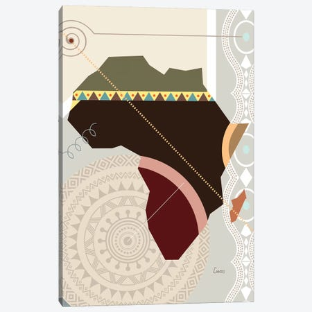 Afroville Canvas Print #LNR101} by Lanre Studio Canvas Wall Art