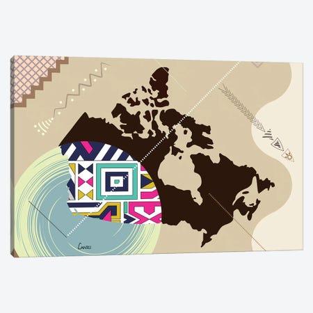 Canada Stylized Canvas Print #LNR108} by Lanre Studio Canvas Art
