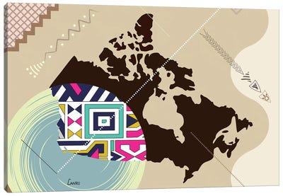 Canada Stylized Canvas Art Print
